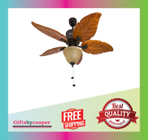 Honeywell Sabal Palm Tropical Ceiling Fan with Sunset Bowl Light Five 52-Inch