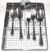 51pc Stainless Steel Flatware Cutlery set Caddy and Steak Knives Service for 8