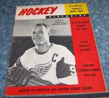 Hockey Pictorial Magazine January 1963 Detroits Gordie Howe