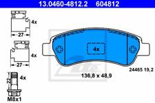 Bremsbelagsatz, Scheibenbremse für Bremsanlage Hinterachse ATE 13.0460-4812.2