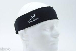 HEADSWEATS TOPLESS COOLMAX SWEATBAND HEADBAND BICYCLE CYCLING CAP HAT BLACK