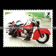 ★ INDIAN CHIEF 1948 ★ KHAKASSIA Timbre Poste Moto / Motorcycle Stamp #345
