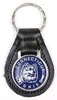 Connecticut Huskies Keychain & Keyring - Leather