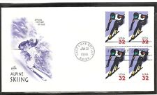 US Scott # 3180 Alpine Skiing FDC.BLK4. Artcraft Cachet.