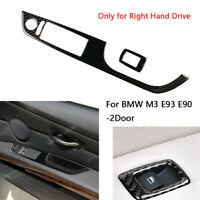 RHD Carbon Fiber Window Lift Switch Button Panel Trim for BMW M3 E93 E90 2Door