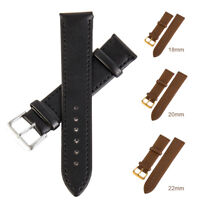 Leather Watch Band Strap For Watch 42mm 46mm  Sport Business Office Watch Band