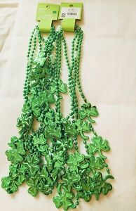 SPRITZ St Patrick's Day Green Lucky Charm Beaded Necklace 7 Count
