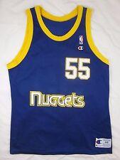 CHAMPION DIKEMBE MUTOMBO 1991-92 DENVER NUGGETS NBA ROOKIE REPLICA L JERSEY 44