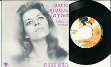 """NICOLETTA 45 TOURS 7"""" FRANCE QUAND ON A QUE L'AMOUR (DE JACQUES BREL)"""
