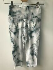 Varley ® Wharf Capri Teal Marble Leggings - Size XS - New  - RRP = £85.00