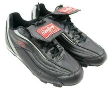 Rawlings Mens Black Silver Red Athletic Cleats Shoes Size 7.5M