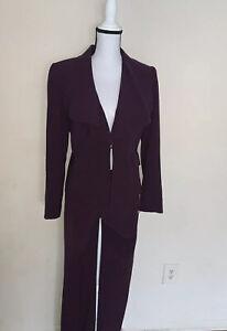 Tahari Arthur S Levine Women's Pant Suit Size 4 Career Wear 2 Piece Suit