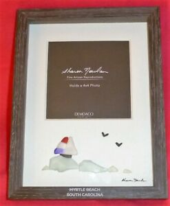 Sharon Nowlan Myrtle Beach S. Carolina Framed Glass Sailboat & Waves Art Demdaco