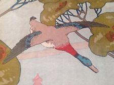 Mulberry Flying Ducks Velvet Fabric / Upholstery/ curtain material 2.75mtrs