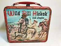 Vintage WILD BILL HICKOK and JINGLES Metal Lunchbox See Pics!!! Make offer!