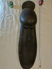 Enormous Face Sculpture — Four Feet Tall — Authentic Handcarved Wood African Art