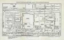 1924 Fei Shi Map of the Foreign Legation Quarter in Beijing / Peking, China