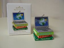 Hallmark Ornament 2011 WORLD CLASS TEACHER NEW Laptop Books School Class Learn