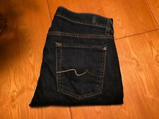 MENS SEVEN 7 FOR ALL MANKIND LUX PERFORMANCE SLIMMY BLUE JEANS 34 X 28.5 NWOT