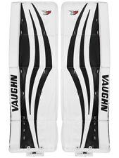 """New Vaughn Xr Pro Sr goalie leg pads 33""""+2 White/Black Velocity V7 senior hockey"""