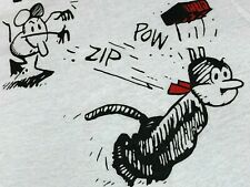 New listing L * nos thin vtg 80s 1988 Krazy Kat t shirt * comic rap