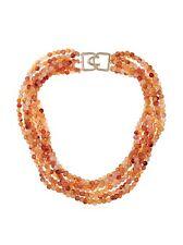 Kenneth Jay Lane KJL Amber Bead Multi Row Necklace