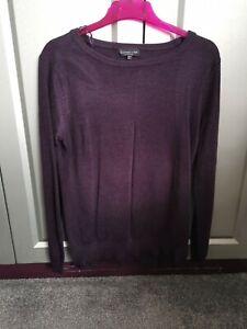 Purple Jumper Size 10 knitwear by f&f