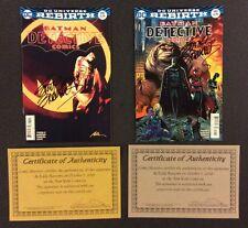 BATMAN DETECTIVE COMICS #940 Variant Covers SIGNED Eddy BARROWS DC Rebirth COA