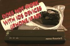Pentax Pocketjet 3 Bluetooth Thermal Portable Printer w/ACC. -NO BATTERY