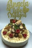 Custom Cake Topper Engagement Any Names/Word or Colour Personalised Customised