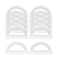 Math Protractors Plastic Protractor 180 Degrees, Clear, 12 Pack-6 Inches