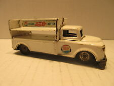 1950's Tin Friction Pepsi Cola Truck Toy Made In Japan