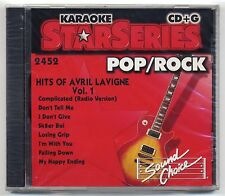 SOUND CHOICE KARAOKE SC-2452 AVRIL LAVIGNE, FACTORY SEALED STAR SERIES CD+G OOP