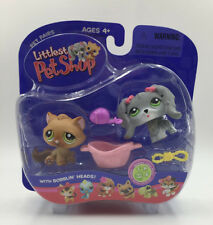 Littlest Pet Shop Pet Pairs Playset Collectible LPS Cat Dog #193 #194 Cute Gifts