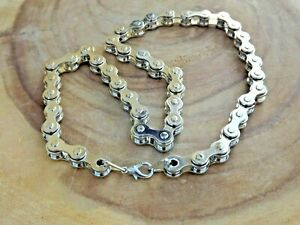 Smooth Silver Bicycle Pendant and 20 in silver chain Necklace