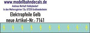 10 TT-Elektropfeile 1,0 x 0,4 mm - gelb auf klar - Decals 120-7141