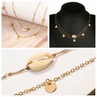 Stylish Beach Boho Sea Shell Pendant Chain Choker Necklace Fashion Jewelry Gift