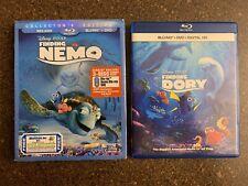 Disney Pixar Finding Nemo and Finding Dory Blu ray Set