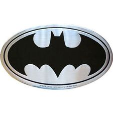BATMAN LOGO - METAL STICKER 3.5 x 2 - BRAND NEW - CAR DECAL 0103