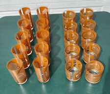 Set of Vintage Georges Briard Highball (10) and Matching Lowball Glasses (10)