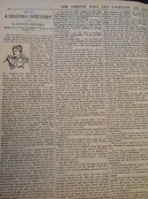H8-1 Ephemera 1896 Short Story Shirley Reynard A Christmas Love Story