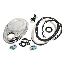 SBC Chevy 2 Piece Chrome Timing Chain Cover - 283 305 327 350 400 Small Block