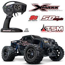 Traxxas # TRX77086-4 blau X-Maxx 8S RTR Brushless TSM E Truck TQi 8S VXL 30Volt