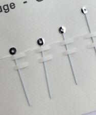 Omega  Hour & Min Hands Silver Hub White Paint Baton 11 mm Cal 711 Case 161.0021
