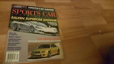 SPORTS CAR INTERNATIONAL January 2001 - THE MAGAZINE - SALEEN SUPERCAR SHOCKER !
