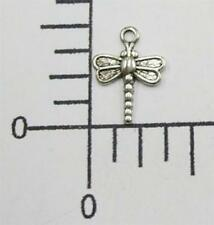 Tiny Dragonfly Jewelry Finding Charm 34934 6 Pc Matte Silver Oxidized