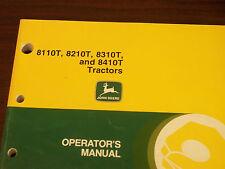 John Deere Tractor Operator'S Manual 8110T,8210T,8310T,8410T Tractors Issue B0
