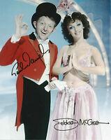 PAUL DANIELS & DEBBIE MCGEE Signed In Person 10x8 Photo Legendary MAGICIAN COA