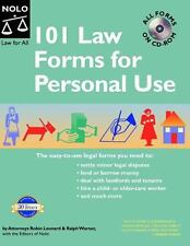 101 Law Forms for Personal Use -  Book with CD-Rom 5th Edition