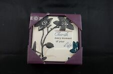 Cherish Every Moment Life Flower Ceramic Wall Art Sign Plaque Picture #273